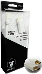 CABLE DOOKU DK-MDH30 MINI DISPLAY PORT A HDMI GOLD 24K 3 MTS