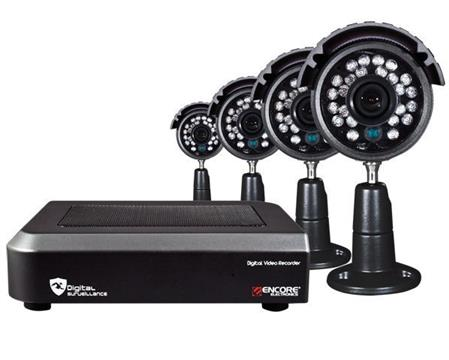 CAMARA IP ENCORE KIT SEGURIDAD 4 CAMARAS 4 CANALES c/DVR BOX
