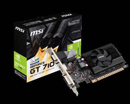 PLACA DE VIDEO LP GF MSI GT 710 2GB DDR3 64BIT PCIEPLACA DE VIDEO LP GF MSI GT 710 2GB DDR3...