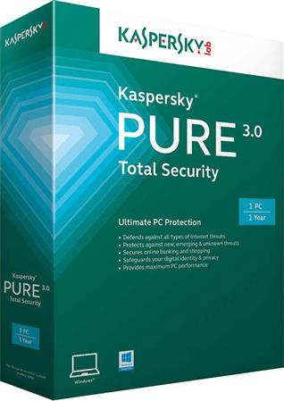 SOFTWARE KASPERSKY ANTIVIRUS PURE TOTAL SECURITY 3 PC