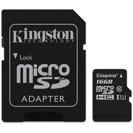 TARJETA DE MEMORIA MICROSD 16GB KINGSTON CANVAS SELECT CLASE 10