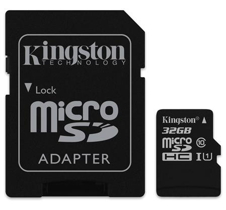 TARJETA DE MEMORIA MICROSD 32GB KINGSTON CANVAS SELECT CLASE 10