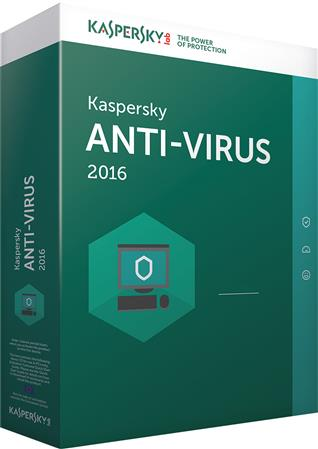 SOFTWARE KASPERSKY ANTIVIRUS 2016 5 PC