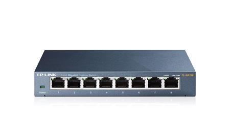 SWITCH 8X TP-LINK TL.SG108 8P GIGABIT ACERO