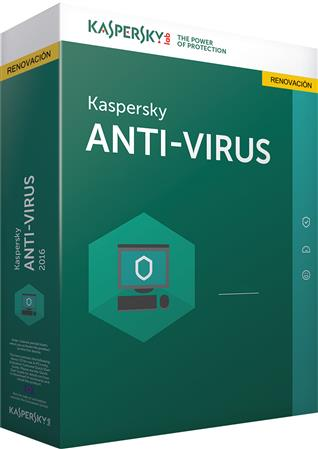 SOFTWARE KASPERSKY ANTIVIRUS RENOVACION 2015 1 PC