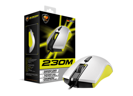 MOUSE COUGAR 230M YELLOW USB