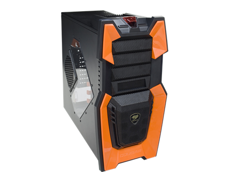GABINETE ATX COUGAR CHALLENGER ORANGE