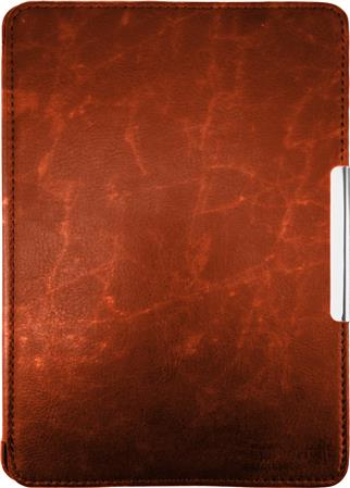 FUNDA EREADER KINDLE PAPERWHITE SIMIL CUERO MARRON MAGNETIZADA