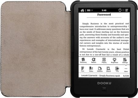 "EREADER 6"" DOOKU TRAVELLER HD PDF EPUB WIFi C/FUNDA"