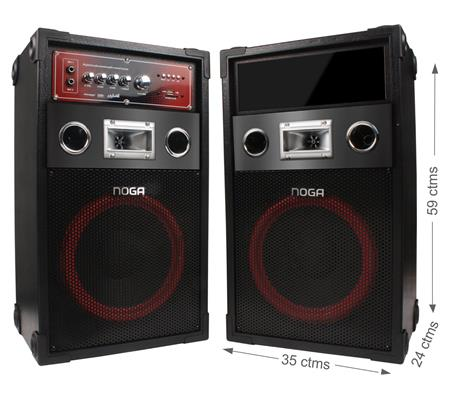 PARLANTES NOGA MIX AMPLIFICADO SET X2S BLUETOOTH