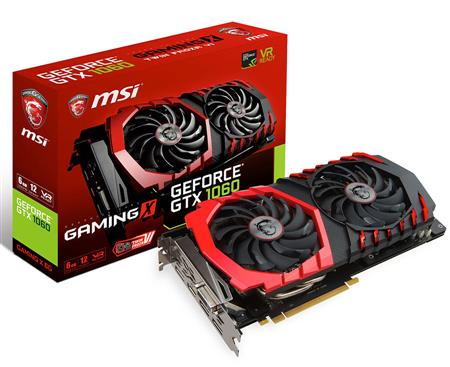PLACA DE VIDEO GF MSI GTX 1060 GAMING X 6GB GDDR5 192bit PCIE