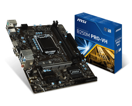 MOTHERBOARD MSI B250M PRO-VH 1151