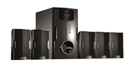 PARLANTES HOME THEATER PROLINE 5.1 PR200-HT USB 1800WATTS PMPO DISPLAY LED