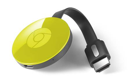 GOOGLE CHROMECAST 2 1080P 2.4/5GHZ STREAMING MEDIA PLAYER S/FUENTE AMARILLO