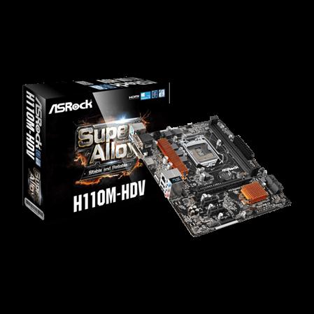 MOTHERBOARD ASROCK H110M-HDV 3.0 DDR4