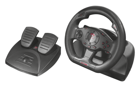 VOLANTE TRUST GXT 580 VIBRATION RACING PC & PS3