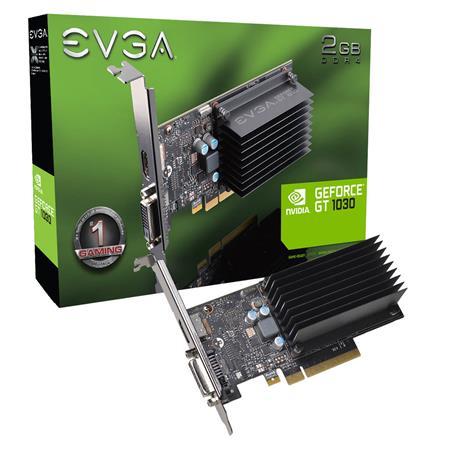 PLACA DE VIDEO GF EVGA GT 1030 PASSIVE 2GB DDR4 64BIT LP PCIE