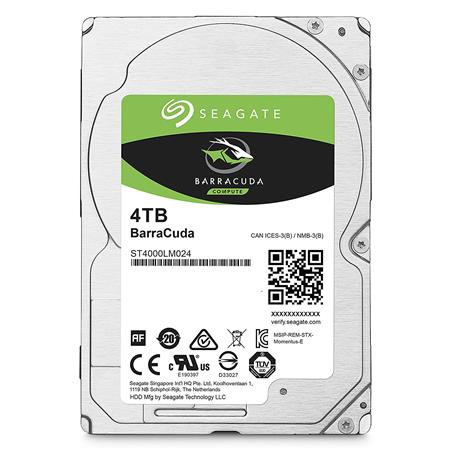 DISCO RIGIDO NOTEBOOK 4TERA SEAGATE BARRACUDA (ST4000LM024) 128MB SATA III 15mm