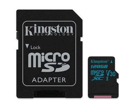 TARJETA DE MEMORIA MICROSD 128GB KINGSTON CANVAS GO! V30 U3 4K 90MB/S