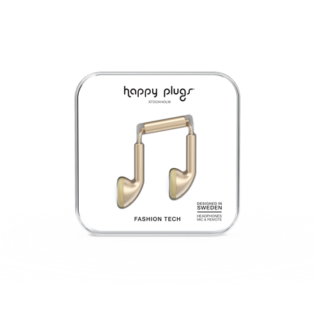 AURICULAR C/MIC EARBUD HAPPY PLUGS EARBUD CHAMPAGNE