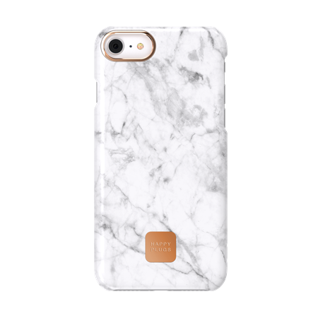 FUNDA HAPPY PLUGS IPHONE 7/8 CASE WHITE MARBLE