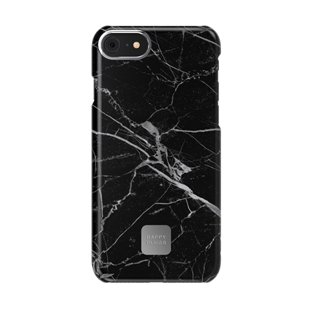 FUNDA HAPPY PLUGS IPHONE 7/8 CASE BLACK MARBLE