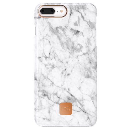 FUNDA HAPPY PLUGS IPHONE 7/8 PLUS CASE WHITE MARBLE