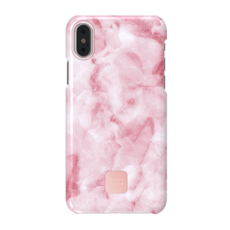 FUNDA HAPPY PLUGS IPHONE X PINK MARBLE