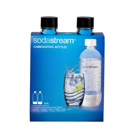 BOTELLA SODASTREAM CARBONATADA 1/2LITRO PACK X 2 BLACK NEGRA