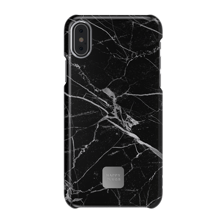 FUNDA HAPPY PLUGS IPHONE X BLACK MARBLE