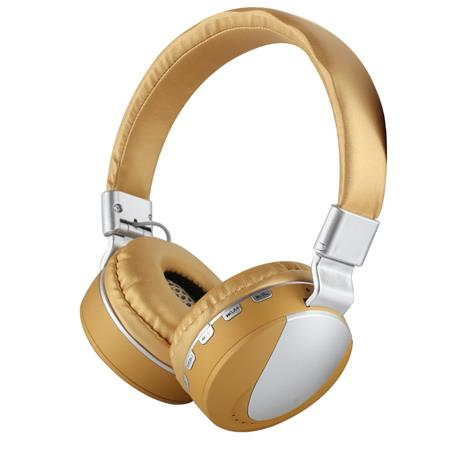 AURICULAR WIRELESS C/MIC VINCHA MPLSBO MS-K9 NOISE CANCELLING TF CARD FM MP3 GOLD