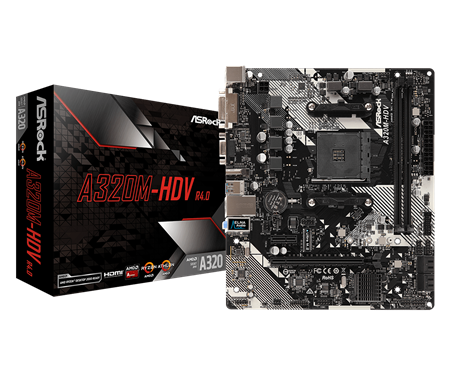MOTHERBOARD ASROCK A320M-HDV R4.0 AM4