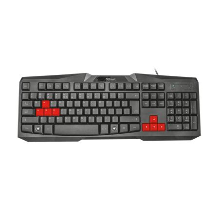 TECLADO TRUST ZIVA BLACK/RED GAMER