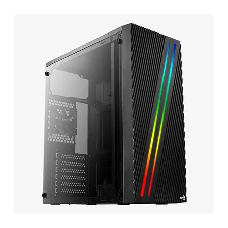 GABINETE ATX AEROCOOL STREAK RGB LED PANEL ACRILICO 1 COOLER 80MMGABINETE ATX AEROCOOL STREAK RGB LED PANEL...