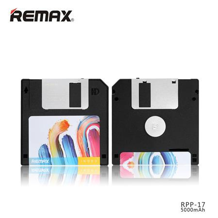 POWERBANK REMAX RPP-17 5000MAH DISKETTE VINTAGE NEGRO BLACK