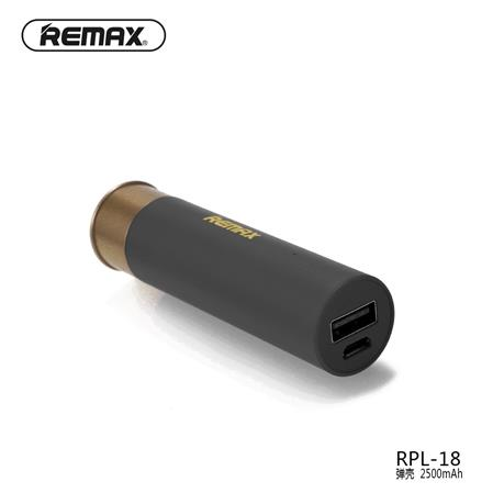 POWERBANK REMAX RPL-18 2500MAH BALA SHELL NEGRO BLACK